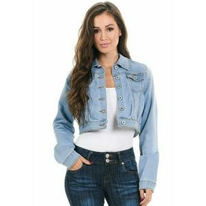 Blue long sleeve bolero jacket